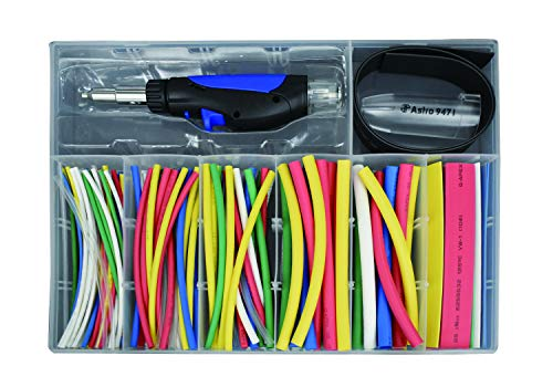 Astro Pneumatic Tool 9472 162pc Butane Micro Pencil Heat-Shrink Torch Kit