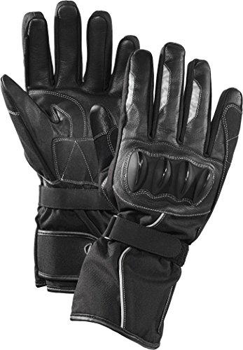 CRIVIT® Herren Motorrad-Handschuhe, mit echtem Leder, gefüttert, Modell 1 (Gr. XL - 10)