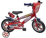 Vélo 12'' garçon licence Cars - 2 freins avec porte-bidon + bidon arrière