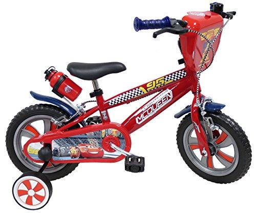 "Vélo 12""' garçon licence Cars - 2 freins avec porte-bidon + bidon arrière"