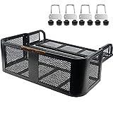 "PLIOSAUR ATV Rear Drop Basket Rack ,with Steel Mesh Surface Detachable Steel Luggage Cargo,for Motorcycle & ATV& UTV(41"" x 14""x 13"" )"