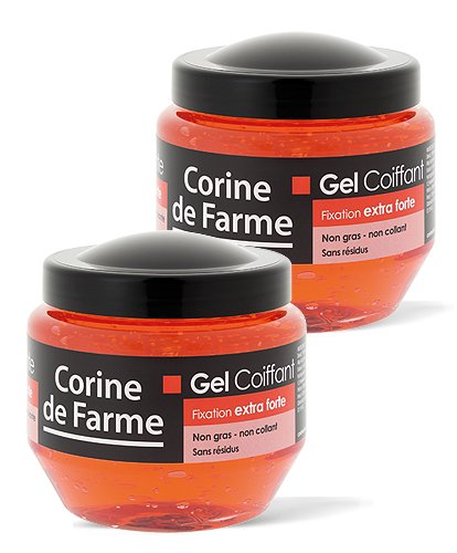 Lot de 2 Gels coiffants fixation extra-forte 250 ml