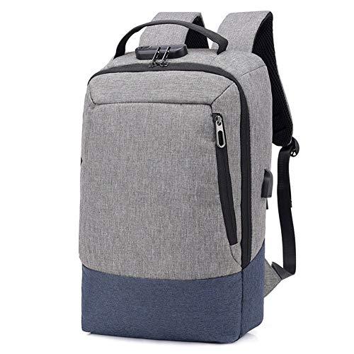 Glqwe Ergonomische rugzak, veegmachine, USB, heren en vrouwen, schoudertas, doorlaatbaar, computertas, opladen, vaste M