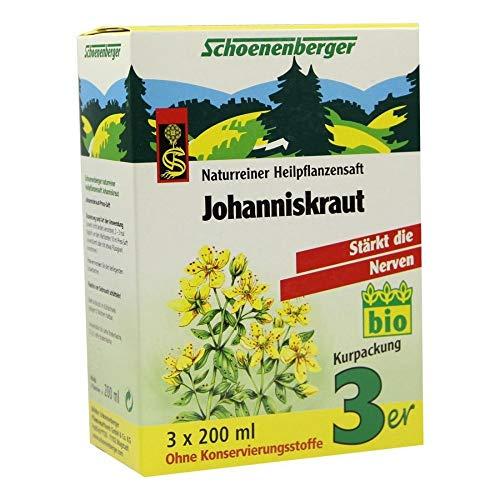 JOHANNISKRAUT SAFT Schoenenberger Heilpfl.Säfte 3X200 ml
