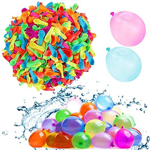 Lunriwis 222 Pièces Bombes à Eau, Ballon multicolore, Ballons d'eau Kits, Auto-scellantes sans Nœuds, Fill et Attachant des Ballons d'eau, Bombe à Eau Ballon, Ballon d'eau Enfant