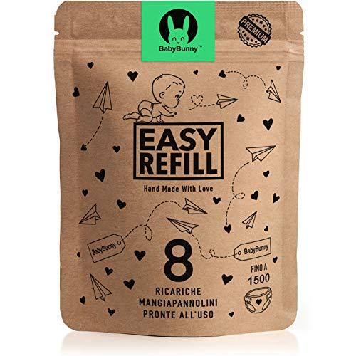 EasyRefill - 8 Ricariche Mangiapannolini Compatibili Angelcare | Tommee Tippee Sangenic Tec, Simple Tec, Twist and Click | Foppapedretti Maialino | Litter Locker II | Ricarica (8 Pezzi)
