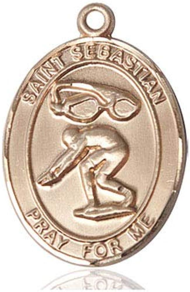 14kt Gold St. 5 ☆ popular Sebastian Cheap bargain Swimming 24 Medal filled long Inch