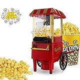 Hengda Popcornmaschine 1200W Popcornmaschine für Zuhause,stellen 20 kleine Schachteln zur Verfügung Retro Popcorn Maker Heissluft Fettfrei Ölfrei