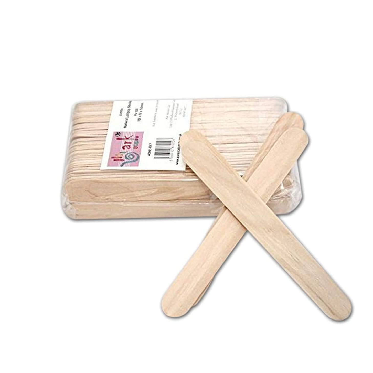 2 x 100 Jumbo Natural Wooden Lollipop Sticks by arkCRAFT