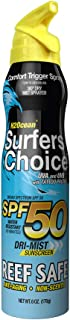 H2Ocean Surfers Choice Tattoo Care Sunscreen Spray SPF 50 Reef Safe & Water Resistant - 6 oz