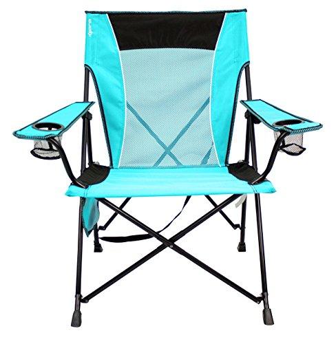 Kijaro Dual Lock Portable Camping and Sports Chair, Ionian Turquoise