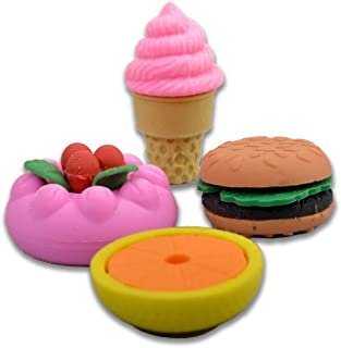 COI Fast Food Set of 8 Pencil ERASERS for Kids