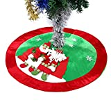 Ohuhu Falda Arbol Navidad Santa y muñeco de Nieve Árbol de Navidad Falda, Falda de decoración de árbol arbol de Navidad 35'/90 cm