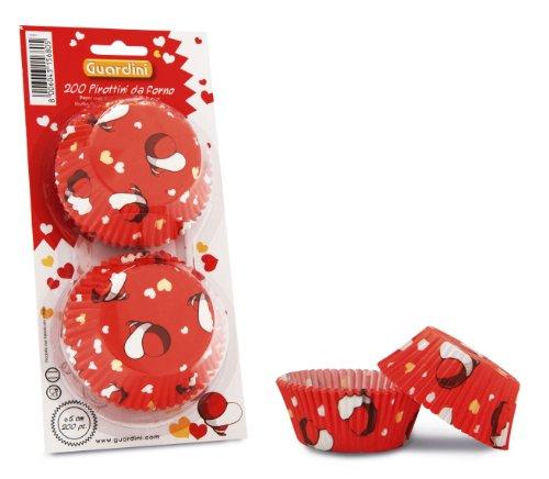 Guardini 4223015680 Caissettes en Papier pour Muffin Motif cœurs
