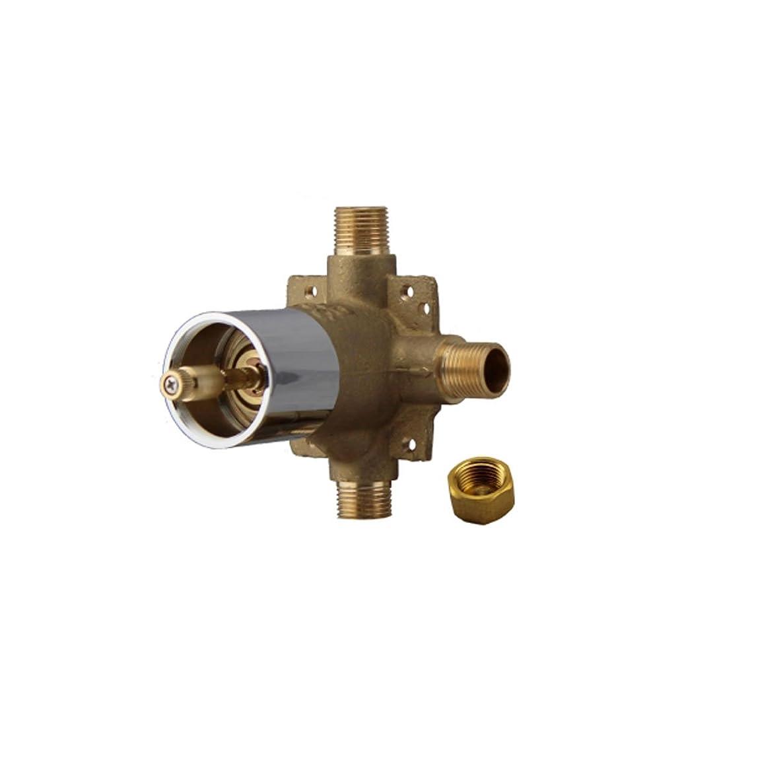 Fluid Faucets F5600B-BN Shower 3-Way Diverter Valve, Brushed Nickel, 1-Pack