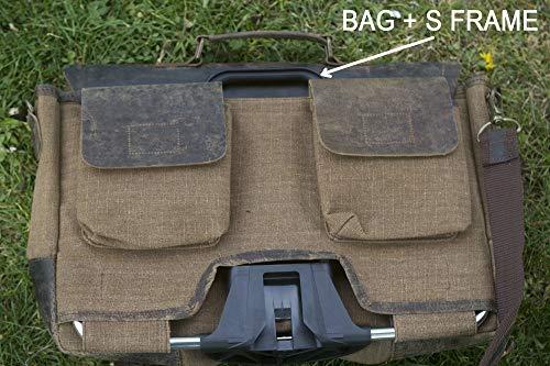 London Craftwork Exklusive Handgefertigte Umhängetasche für Brompton für S/M/H/P Lenker, Brompton-Gepäck, Braun