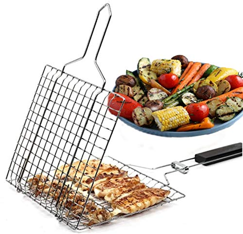 Harold & Harold Must Have Grill Basket. Basic Version of Out Exclusive Basket. Best Solution for Everyday Grill. Easy to flip Food. Great for Kabob, Fish, Seafoodand Vegetables