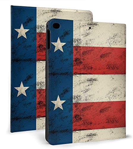 Vintage Texas Flag PU Leather Smart Case Auto Sleep/Wake Feature for iPad Mini 4/5 7.9'& iPad Air 1/2 9.7' Case