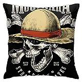 Maodam Almohada de sombrero de paja con cremallera oculta, apertura y cierre, súper suave y cómoda, con decoración de doble cara, adecuada para sofá cama y coche (45,7 x 45,7 cm)