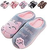 Zapatillas De Estar por Casa De Mujer Homber Invierno Dibujos Animados Gato Antideslizante CáLido Interior Dormitorio Slippers