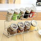 Glas Cruet 9 Teile/Satz Gewürzkasten Einmachglas Gewürzkasten Lebensmittelbehälter Küche Veranstalter Zuckerglas Gewürz Für Aufbewahrungsbox