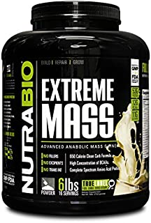 NutraBio Extreme Mass Weight Gainer - 6 lbs Vanilla by NutraBio