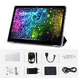 Android Tablet Komplett mit 10,0 Zoll HD IPS-Display, Android 9.0 3G-Pad mit 2 SIM-Kartensteckplätzen, Quad-Core, 1,3 GHz, 4 GB + 64 GB, Bluetooth, WLAN, GPS, Dual-Kamera, Schwarz