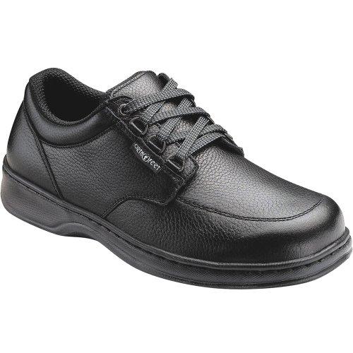 Orthofeet 410 Men's Comfort Diabetic Therapeutic Extra Depth Shoe: Black 9 Wide (2E) Lace
