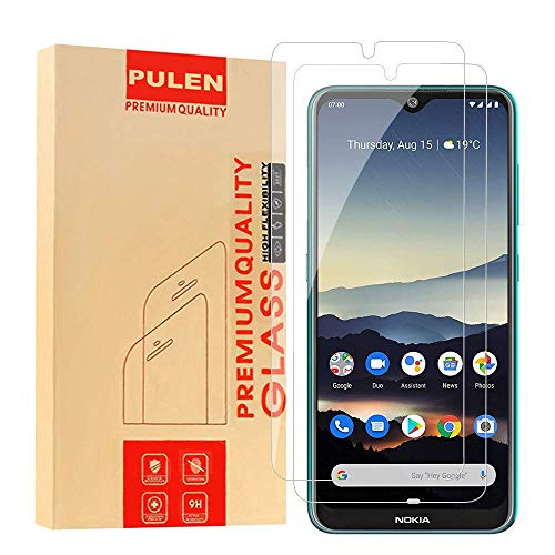 [2 Pack] PULEN for Nokia 7.2 Screen Protector,Nokia 6.2 Screen Protector,HD Clear Scratch Resistant Bubble Free Anti-Fingerprints 9H Hardness Tempered Glass for Nokia 7.2/Nokia 6.2 Florida