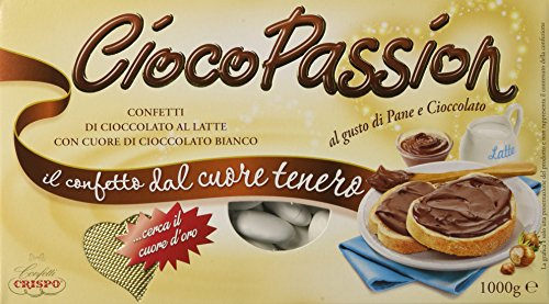 Crispo Confetti Cioco Passion Pane e Cioccolato - Colore Bianco - 3 confezioni da 1 kg [3 kg]