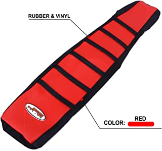Motorcycle Gripper Seat Cover Rubber Soft Skin Covers For Honda CR125 97-99 CR250 1997-1999 Dirt Pit Bike Off Road - Red Color