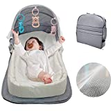 Portable Baby Travel Bed,Baby Lounger Backpack,Baby Mosquito net,Baby Nest with Mattress Included