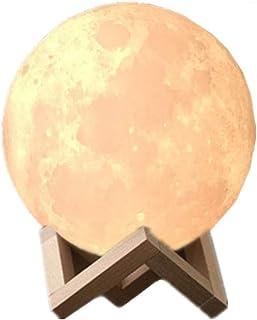 Lámpara de Luna 3D,16 colores Luz Nocturna Luna Lampara Luna Grande 12 cm Conexión Usb con 3 Colores e Intensidad a Elegir Luz de Noche Ambiente Lámparas para Niños Bebé Regalo de Fiesta Decoración
