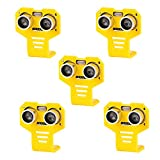 5pcs HC-SR04 kits de sensor de distancia de módulo ultrasónico con 5pcs soporte de montaje de dibujos animados amarillo para servo Arduino UNO MEGA R3 inteligentes proyectos de robótica de coche