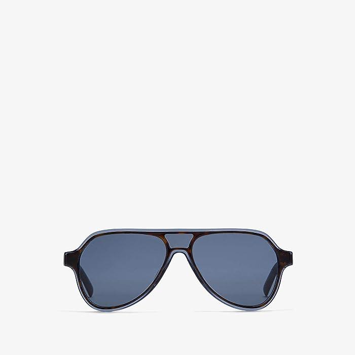 Dolce and Gabbana  DG4355F (Top Havana/Transparent Blue/Blue) Fashion Sunglasses
