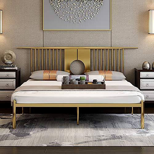 VBARV Double Bed Frame, King Metal Bed Frame with Headboard Footboard Slats, Premium Steel Slat Support, with Large Storage Space, Bedroom Furniture for Adults, Kids