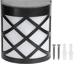 Longzhou Sensorlicht, waterdichte LED zonnelamp bewegingssensor wandlamp lamp voor tuintuin buiten (warm wit)