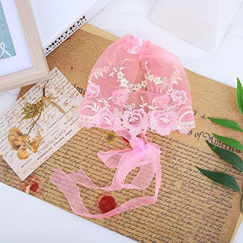 Hochwertiges Spitzenmaterial, Säuglingshut, für die Fotografie(Pink)