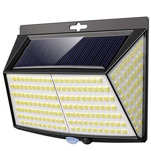 Luce Solare LED Esterno, Vighep 228 LED Luci Solari Lampade Faretti Solari a LED da Esterno Sensore di Movimento IP65 Impermeabile 3 Modalità per Giardino Parete Wireless Risparmio Energetico Terrazza
