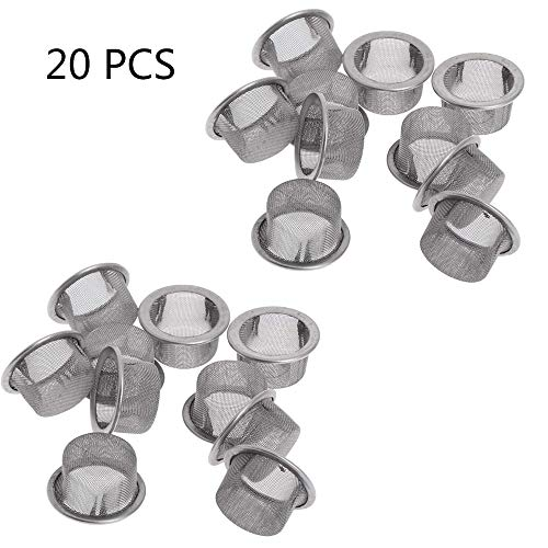 Asweeting Pipe Bowl Steel Metal Gauze Screens,Smoking Pipe Metal Filter Screen Steel Mesh Concave Bowl Style 20Pcs
