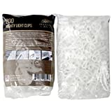 Holiday Joy - 200 Mighty Clip Lights - Quick & Easy Installation of Christmas Lights on Shingles & Gutters - Made in USA (200 Pack)