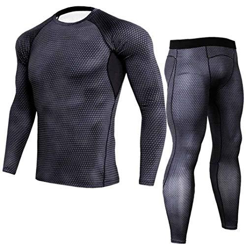 Heren Snel T ademend shirt drogend pak slangenprint Chic Fitness loop lange mouwen shirt sportkleding