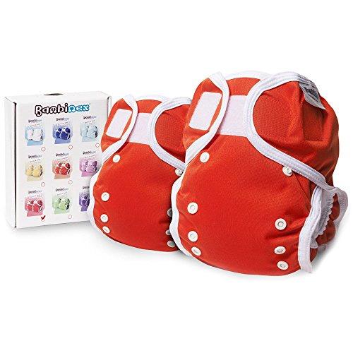 Bambinex ** 2er SparPack ** OneSize Wrap - Die mitwachsende Überhose für den Stoffwindel-Popo - für nahezu ALLE Stoffwindeln z.B. Bambinex, Mullwindeln, Bindewindel etc. / OneSize 3-15kg (Rot)