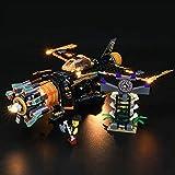 Sungvool Juego de luces LED para avión Lego Ninjago Legacy Boulder Blaster de Lego 71736 (no incluye el modelo Lego)