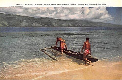 Print Ad 1949 Oilskins Sea Boots Flowered Lava-lavas Protect These Carefree