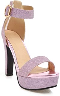 BalaMasa Womens ASL06622 Pu Platform Heels