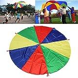 ZZM Parachute para niños 6/10/12 Foot with 8 Handles, Ideal para niños Juegos al Aire Libre Jugar Parachut (2M)