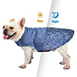 PROPLUMS Reflective Dog Winter Jacket, Windproof Waterproof Dog Sweater for Cold Weather with Reflective Strips Best Gift for Small Medium Dogs (L)
