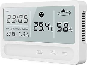 Xu Yuan Jia-Shop Termómetro Higrómetro Estación de Clima Interior LCD Temperatura electrónica Medidor de Humedad Termómetro Digital Higrómetro Reloj Despertador Digital Termohigrómetro