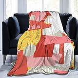 Manta de forro polar de franela ultra suave cálida manta ligera de microforro polar, decoración de viaje, manta estilo 6-80'x60